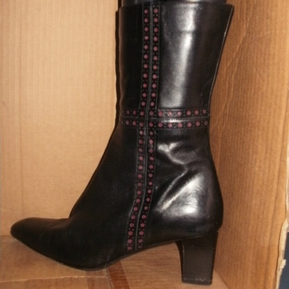 Leather Mid Calf Boot | Poshmark